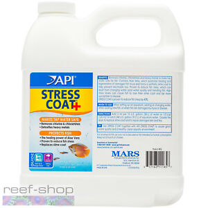 API Stress Coat 64oz Protects Fish Makes Tap Water Safe for Marine & Freshwater