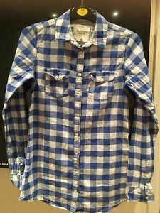 Abercrombie And Fitch Ladies Blue Check Shirt Size Small