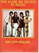 """BAY CITY ROLLERS """"YOU MADE ME BELIEVE IN MAGIC"""" SHEET MUSIC-1977-RARE-BRAND NEW!"""