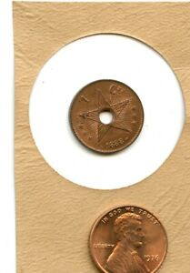 1888 Congo Free State/Belgian Congo 1 CENTIMES  NICE LOOKING  U GRADE    W80