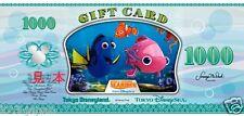 NEW!! Tokyo Disney SEA Nemo & Friends Searider Gift Card Disney Dollar 1000 YEN