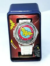 DC WONDER WOMAN Spinner Watch with Silicone Band & Collectible Tin BRAND NEW