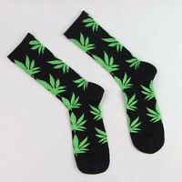 Fashion Women Men Marijuana Long Cotton Sport Weed Leaf Socks Ankle Sock Crew