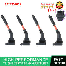 4X 0221504001 Ignition Coil For Mercedes-Benz C600 E420 S420 S500 S600 SL500