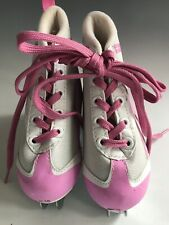 Star Glide Youth Jr 10 Ice Skates Pink White Double Blades Euc