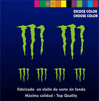6 X PEGATINAS -STICKER- VINILO - Monster - Sponsor -Vinyl -Aufkleber-Autocollant