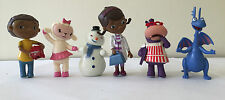 6pcs Doc McStuffins figures cake toppers stuffy Lambie hallie chilly Kid Toy