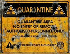 Quarantine Area Deadly Sign - Halloween Decor Prop Road and Lawn Decoration Stic