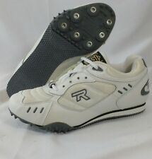 Rival Sprint White Charcoal Size 5 Track and Field Cleats Shoes