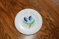 """Westmoreland Beaded Edge Fruit  Bread and Butter Plate """"Plums"""" 6 1/4"""" W/G marked"""