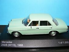 Mercedes Benz 200  Mint Green 1968 with Brown interior a 1:43RD Scale Whitebox