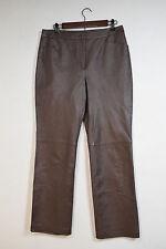 Chadwicks Brown Leather Pants Woman Sz 10 New w/Tags