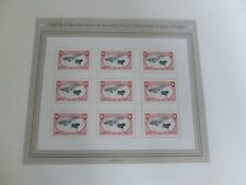 United States Scott  3210 , the 1998  Trans-Mississippi pane of 9 $1.00 stamps