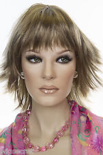 Light Ash Brown  Champagne Blonde Frost Blonde Medium Straight Wigs