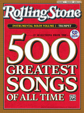 Rolling Stone-500 Greatest Songs Of All Time-Trumpet Volume 1 Music Book/Cd-New!