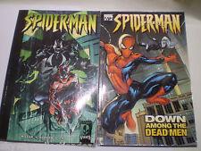 2 Marvel Knights Comic Books , Spiderman 1&2 , Down Among The Dead & Venomous