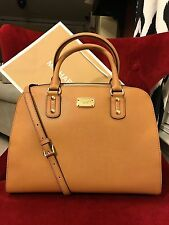 NWT MICHAEL KORS SAFFIANO LEATHER LARGE SATCHEL BAG IN ACORN (SALE!!!)
