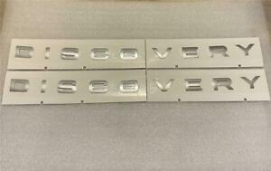 Original Land Rover Discovery Sport 5 Bonnet Boot badge lettering badges silver