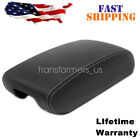 Leather Center Console Lid Armrest Cover For 11-19 Jeep Grand Cherokee Black