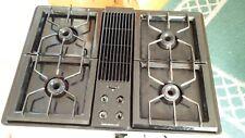 "Jenn Air Cvg4280B 30"" Gas Black Downdraft Cooktop 4 Burners + New Grill Grate"