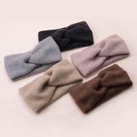 French Cross Temperament Wide Side Autumn Winter Woolen Soft Headband Accessory