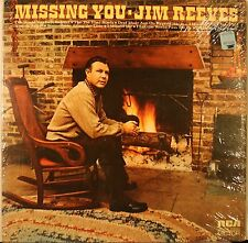 "Jim Reeves ""Missing You"" LP Record 1972 w/Orig Shrink wrap VG Condition"