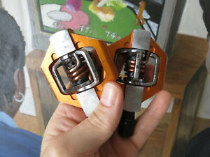 Crank Brothers Orange Silver Egg Beaters Candy 2 Clipless Mountain Bike Pedals