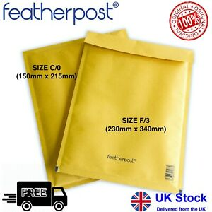 Featherpost Padded Envelope Self Seal Gold Royal Mail Large Letter Size jiffy