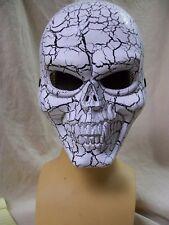 Cracked Skull Face Costume Mask Muerto Evil Statue Skeleton Grim Reaper Biker