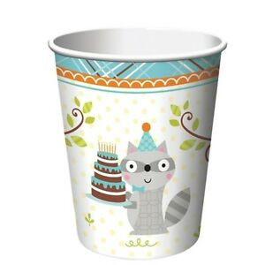 Happi Woodland Boy Forest Animals Birthday Party Supplies Cups