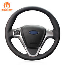 Black Artificial Leather Steering Wheel Cover for Ford Fiesta Ecosport B-MAX