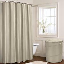 Plain Coffe Beige Latte Shower Curtain 180cm X 180cm With Hooks