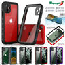 For iPhone 11 Pro Max Case Waterproof Shockproof Cover Built-in Screen Protector