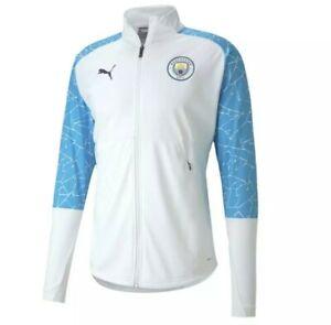 NEW Puma Manchester City Stadium Jacket Football Soccer White 75803308 REPLICA