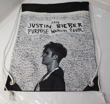 """Justin Bieber 2016 Purpose World Tour Drawstring Bag 19 """" X 14 """" NEW"""