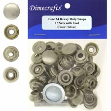 Leathercraft 9/16 Inch Line 24 Snap fastener kit CT.15 w/Tools - Silver