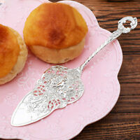 Stainless Steel Cake Server Silver Cake Cutter Lace Pattern Dessert Cake Knife H