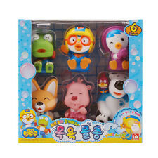 Pororo Bath Water Gun 7 Friends Character Figure Set (6 pcs) Toys Kids Baby