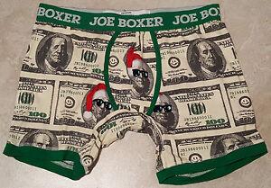 Mens Christmas Money or Lighten Up Boxer-S-L-XL-XXL