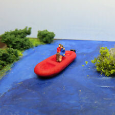 (L02) Loving IN Inflatable Boat Figurines Z Gauge (1:220) Lovecouple IN A Boat