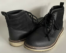 Reserved Footwear Bergren Mid Lace-up Boot Polyurethane & Suede Black Men's 10.5