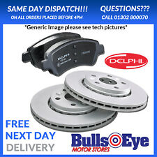 Genuine Delphi Coated Vauxhall Astra Meriva Zafira Front Discs and Pads Kit 308m