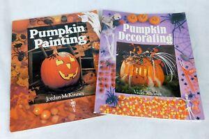 Pumpkin Painting Decorating 2 Books Halloween Craft