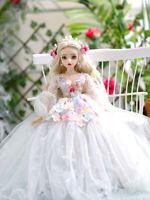 BJD 1/3 Doll Girl Changeable Eyes + Face Makeup + Clothes Full Set BJD Puppen