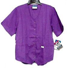 Scrubs Grape Purple Small Scrub Top Short Sleeve Weskit Vest Style Crest 199 New
