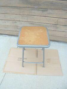 24' metal stool edsal industrial shop school grey paint #2