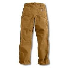 Carhartt B11 Washed Duck Work Dungaree - Brown (40 x 36)