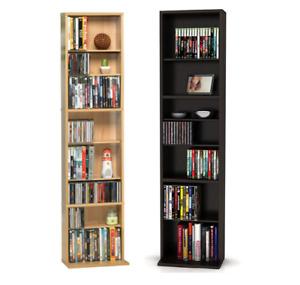 Media Tower Rack Storage 261 CD 114 DVD Shelf Cabinet Organizer Stand Holder New