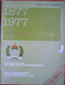 Wimbledon 1977 Official Tennis Championship Sixth Day Programme (25th June 1977)