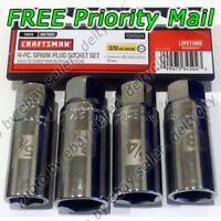 "Craftsman 4 pc Spark Plug Socket Set 3/8"" Drive SAE 5/8"" 3/4"" 13/16"" Metric 18mm"